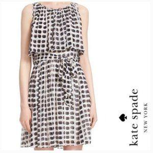 kate spade island stamp chiffon dress size 2 nwt